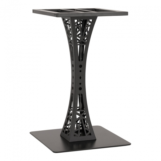 Cult Living Gustave Stainless Steel Cafe Table Base, Black Finish
