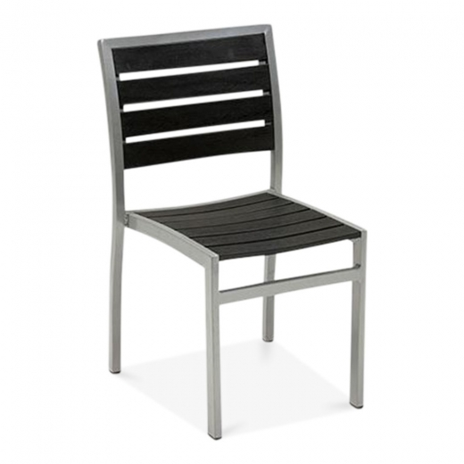 Cult Living Milan Metal Outdoor Dining Chair, Black