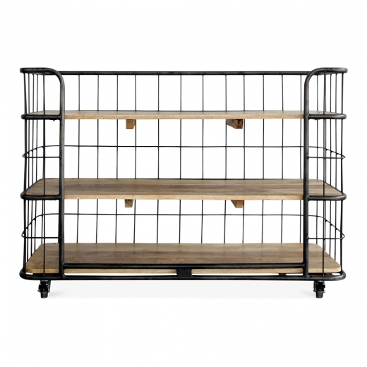 Cult Living Odetta Industrial Bakers Rack, Mando Wood and Iron, Large