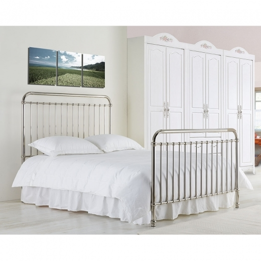 Adelaide Metal Hospital Style Double Bed, Chrome