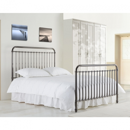 Adelaide Metal Hospital Style King Size Bed, Black