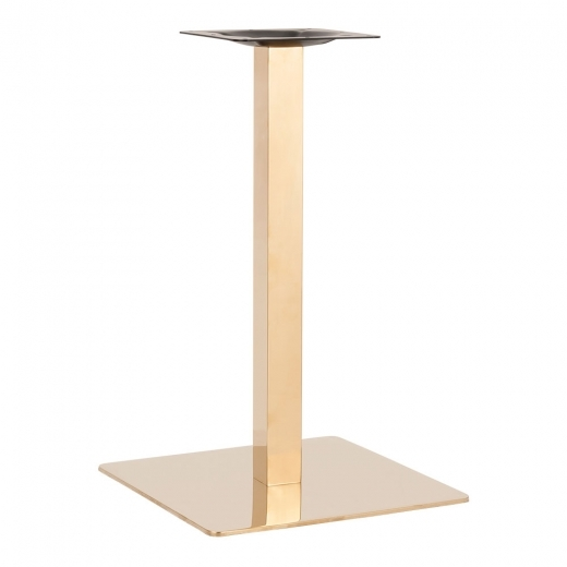 Cult Living Lena Stainless Steel Cafe Table Base, Gold Finish