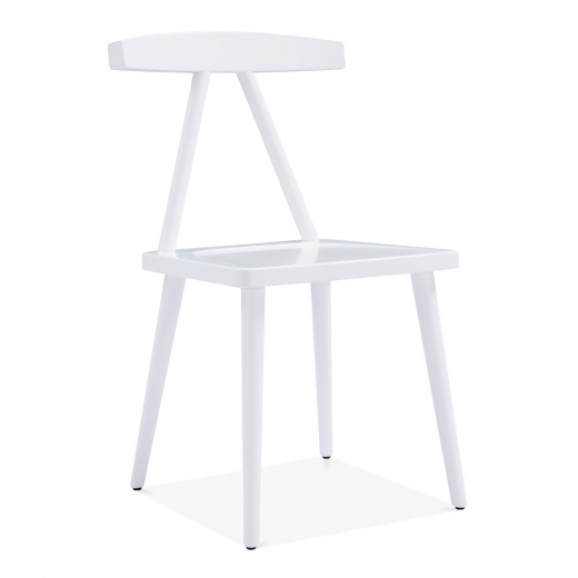 Cult Design Victory Dining Chair, Solid Wood, White
