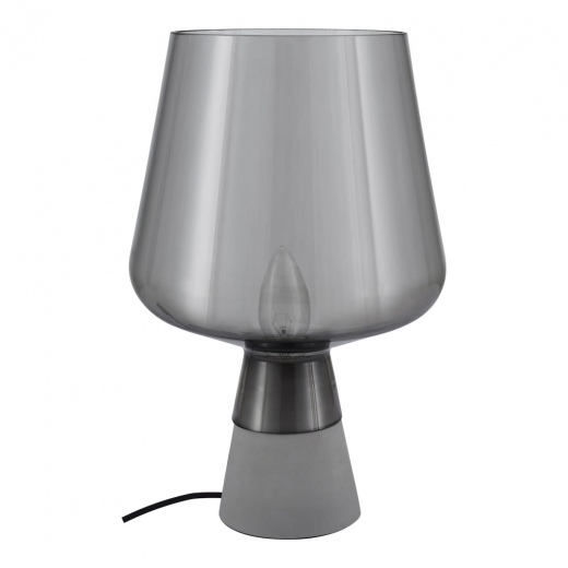Cult Living Lunar Glass Table Lamp, Grey and Concrete