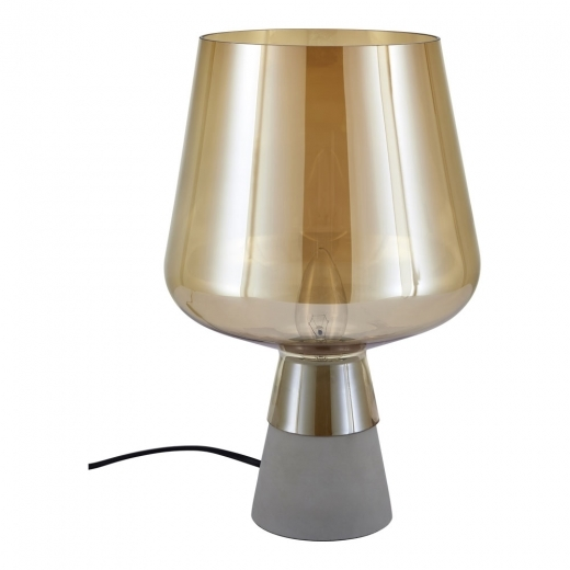 Cult Living Lunar Glass Table Lamp, Amber and Concrete