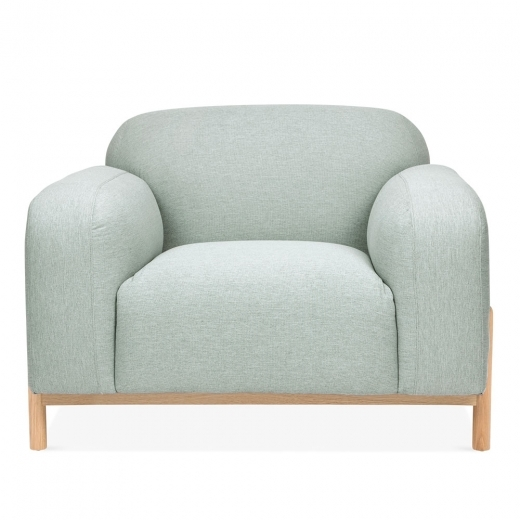 Cult Living Bergen Armchair, Fabric Upholstered, Soft Teal