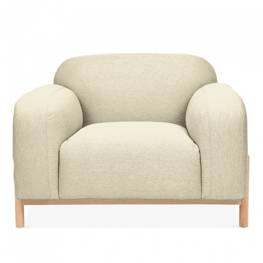 Cult Living Bergen Armchair, Fabric Upholstered, Beige