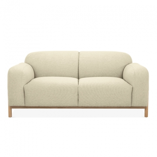Cult Living Bergen 2 Seater Small Sofa, Fabric Upholstered, Beige