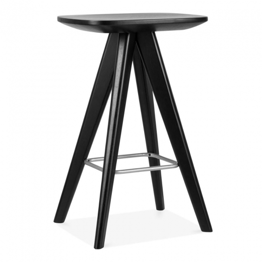 Cult Living Argo Wooden Bar Stool, Black 66cm
