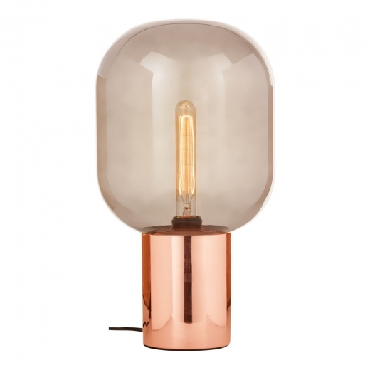 Cult Living Alix Smoked Glass Table Lamp, Copper