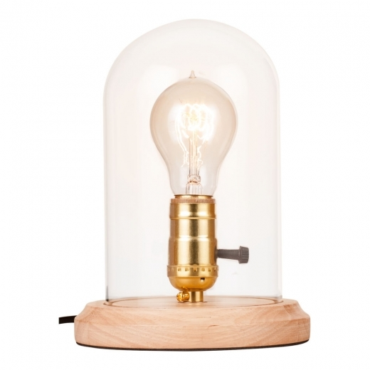 Cult Living Bell Jar Table Lamp with Glass Dome, Natural