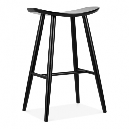 Cult Living Hatton Wooden Bar Stool, Black 72cm