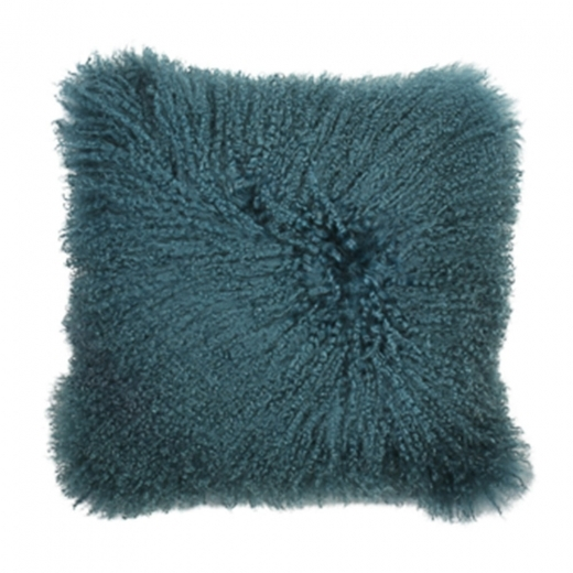 Cult Living Mongolian Sheepskin Cushion, Teal
