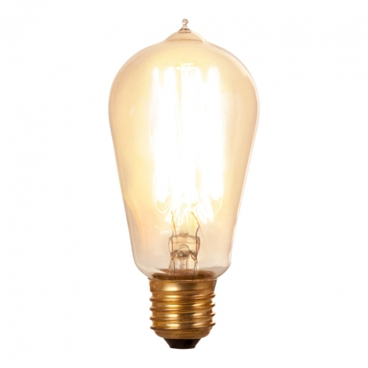 Edison Hair Pin Filament Light Bulb ST58 Dimmable - E27 40W
