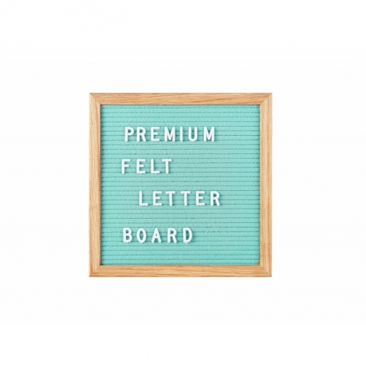 Cult Living Small Vintage Style Felt Letter Board, Mint Green