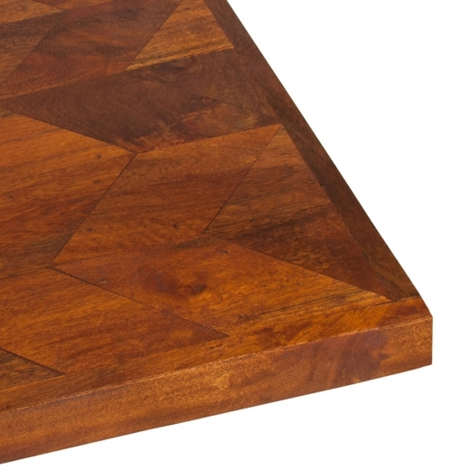 Cult Living Apollo Parquet Patterned Square Table Top, Solid Mango Wood