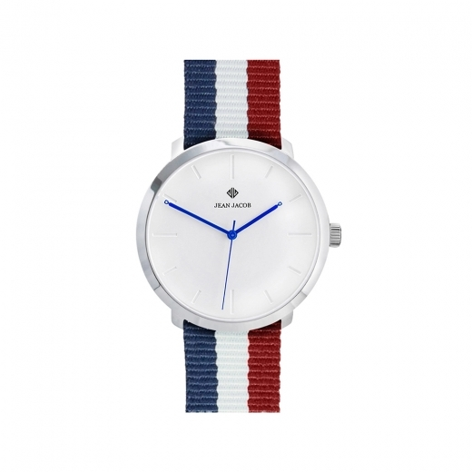 JEAN JACOB Unisex Paris Modern Watch, 40mm in Silver