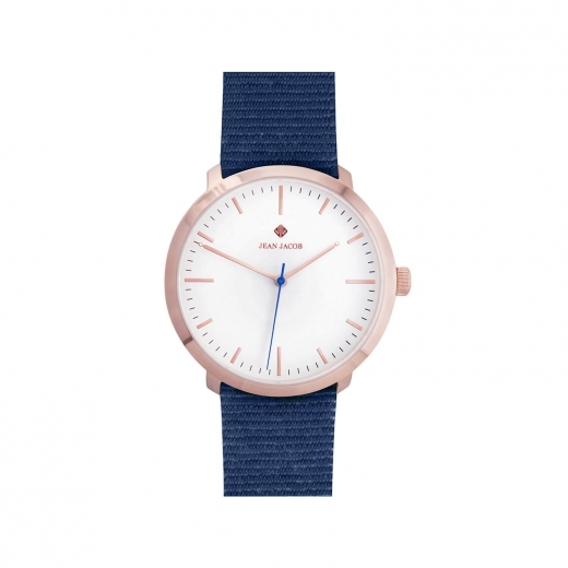 JEAN JACOB Unisex Amsterdam Classic Watch, 40mm in Rose Gold