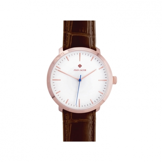 JEAN JACOB Unisex Zürich Classic Watch, 40mm in Rose Gold