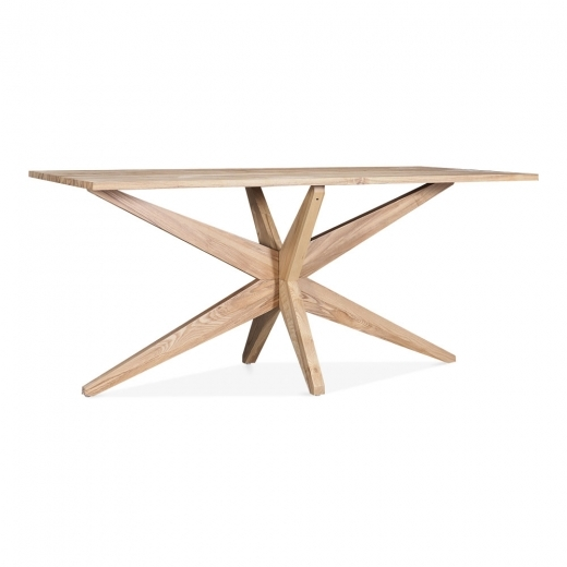 Cult Living Suvi Rectangle Dining Table, Solid Ash Wood, Natural