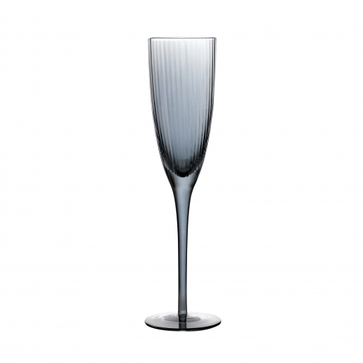 Cult Living Decco Smoke Luster Stemmed Glass Champagne Flute 20cl