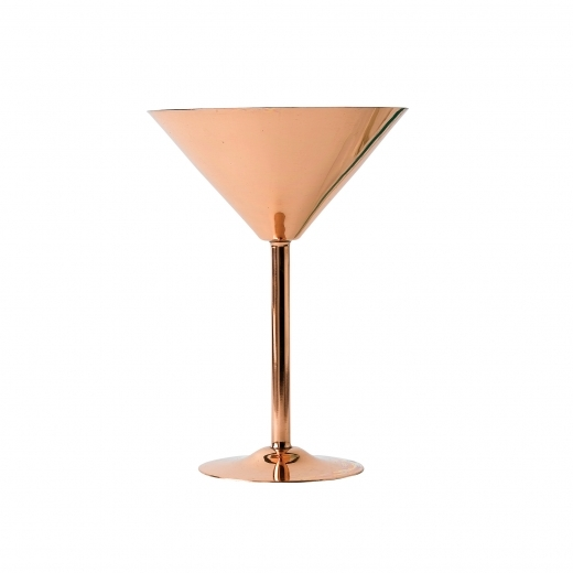 Cult Living Martini Glass with Nickel Lining, Copper 26cl