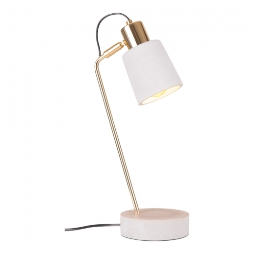 Cult Living Heston Concrete Desk Lamp, Gold