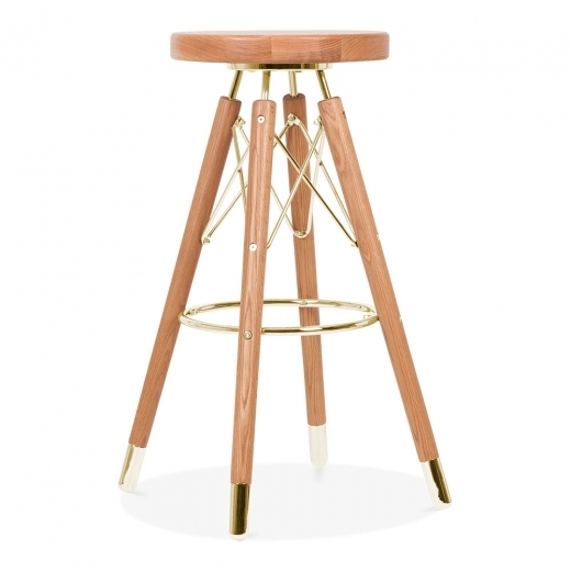 Cult Design Moda Bar Stool CD3, Solid Wood, Natural 75cm