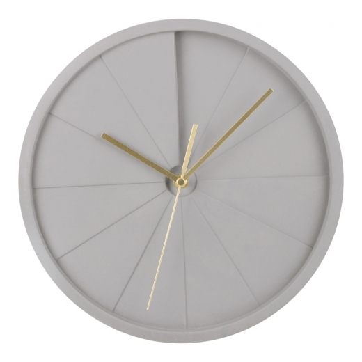 Cult Living Quinn Concrete Round Wall Clock, Grey