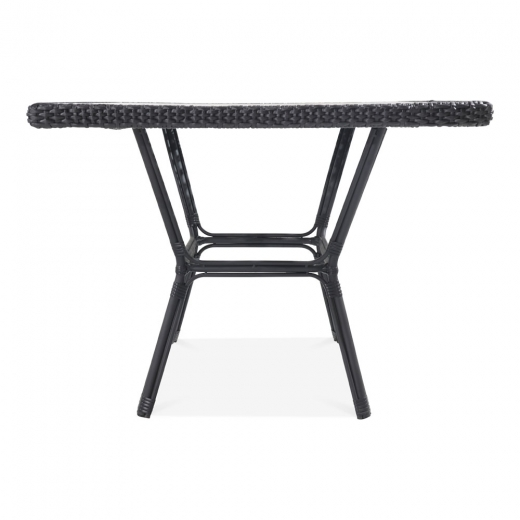 Cult Living Albion Outdoor Dining Table, Black Rattan