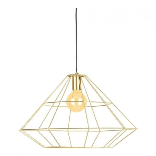 Cult Living Geometric Metal Cage Pendant Light, Gold