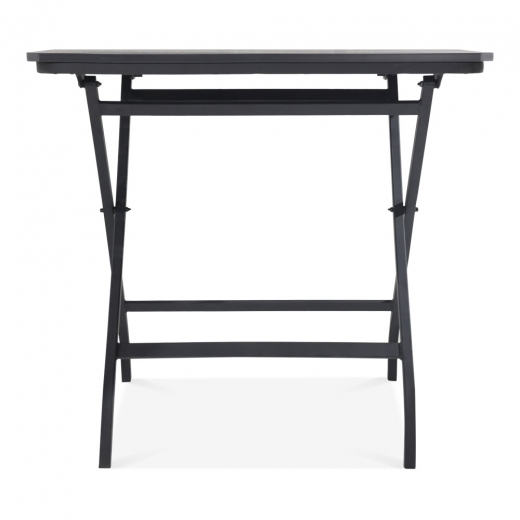 Cult Living Carnaby Folding Outdoor Dining Table, Black Polywood