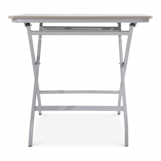 Cult Living Carnaby Folding Outdoor Dining Table, Grey Polywood