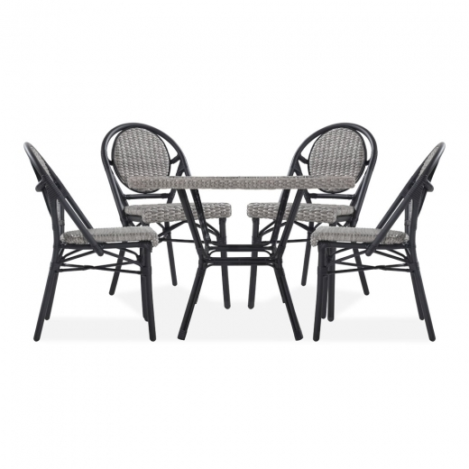 Cult Living Albion 5 Piece Outdoor Dining Set, Grey Rattan
