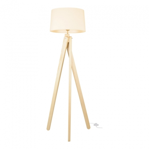 Cult Living Tripod Wooden Floor Lamp - Natural Wood