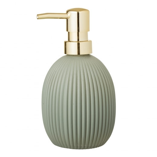 Cult Home Ribbed Glass Soap Dispenser, Green