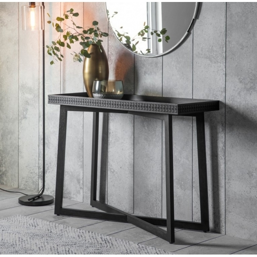 Cult Living Zephyr Console Table, Solid Wood, Black