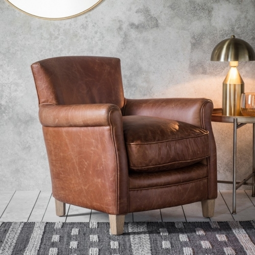 Cult Living Rufus Armchair, Leather Upholstered, Tan