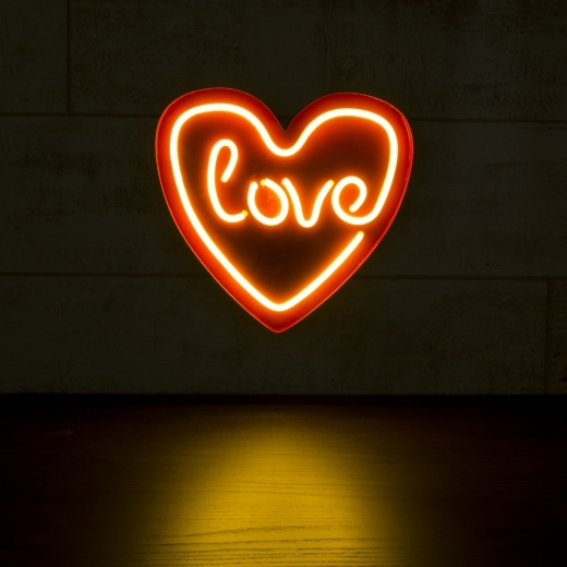 White love heart led neon wall light neon sign wall light love heart led neon sign wall light white aloadofball Image collections