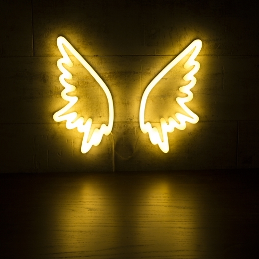 Cult Living Angel Wings Neon Sign Wall Light, White