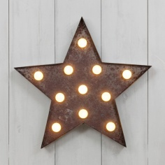 "Metal L.E.D. 13"" Light Up Star"