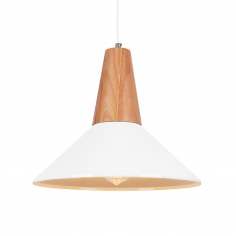 Stockholm Dish Metal Pendant Light - White