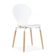 Novel Dining Chair With Plywood Seat - White