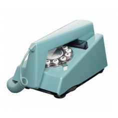 Trim Retro 1970s Style Telephone, Light Blue