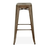 Tolix Style Metal Stool - Rustic 75cm