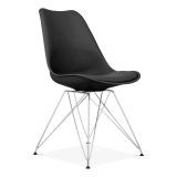 Black Dining Chair with Eiffel Metal Legs