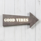 "Metal 16"" Arrow Light Box - Good Vibes"