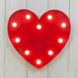 Metal L.E.D. Circus Light - Heart