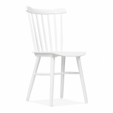 Wooden Windsor Chair - White