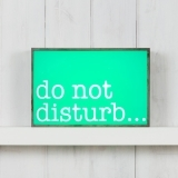 Classic Rectangular Light Box - Do Not Disturb